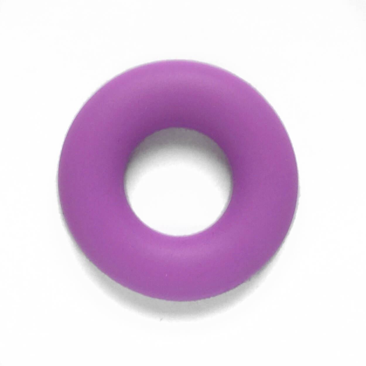 Колечко бублик (сирень) 43мм, бусины из пищевого силикона