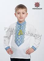Патриотическая детская вышиванка с желто-синим узором, арт. 4403