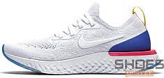 "Мужские кроссовки Nike Epic React Flyknit ""White & Racer Blue"""