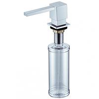 Дозатор для жидкого мыла 390 ml. Blue Water (Польша) квадрат сатин