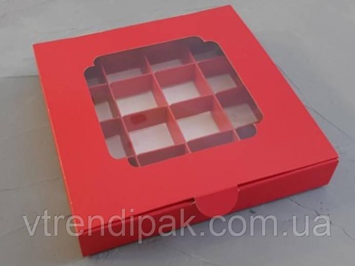 Коробка для 16 цукерок 185*185*30