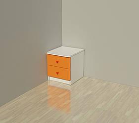Тумба  прикроватная с 2 ящиками, Детская мебель