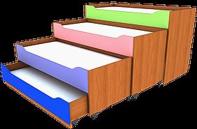 Ліжко розсувне чотиримісна. Меблі для школи. Меблі для дитячого садка