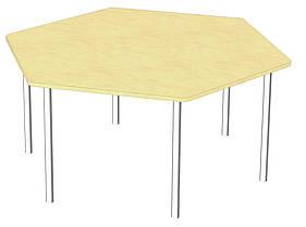 Стіл шестигранний. Меблі для школи. Меблі для дитячого садка