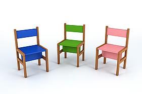 Стілець дитячий (висота сидіння 350). Меблі для школи. Меблі для дитячого садка