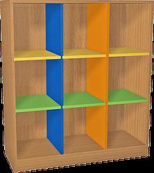 Стеллаж для горшков (9 ячеек). Мебель для школы. Мебель для детского сада