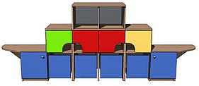 """Ігрова стінка 01 """"Корабель"""". Меблі для школи. Меблі для дитячого садка"""