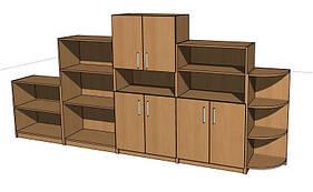 Стенка игровая 02. Мебель для школы. Мебель для детского сада