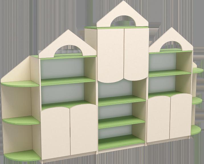 """Ігрова стінка 04 """"Будиночок"""". Меблі для школи. Меблі для дитячого садка"""