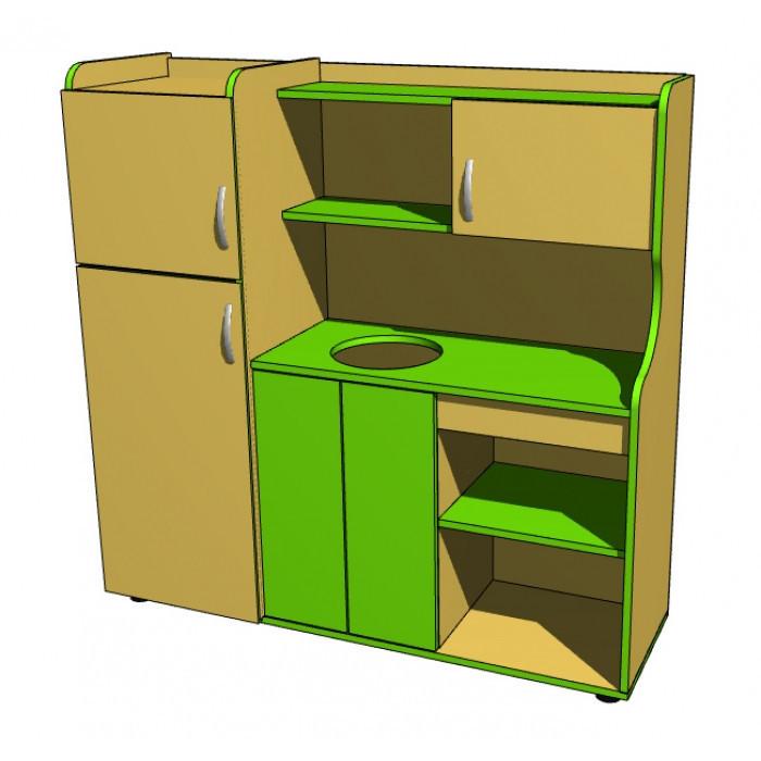 """Стенка игровая 10 """"Кухня"""" ( без миски, смесителя, 4х регуляторов газа). Мебель для школы. Мебель для детского"""