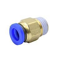 Фитинг прямой, соединитель 6 мм PC6-01