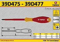 Отвертка крестовая диэлектрическая PH0,  TOPEX  39D475