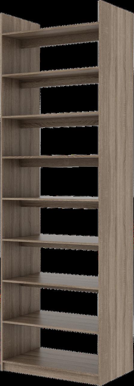 Стеллаж двухсторонний для книг, мебель