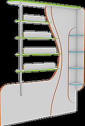 Стелаж-перегородка з полицями для книг, меблі