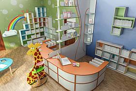 Меблі для дитячої бібліотеки, меблі