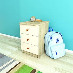 Тумба з трьома ящиками, Дитячі меблі