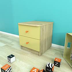 Тумба приліжкова з 2 шухлядами, Дитячі меблі