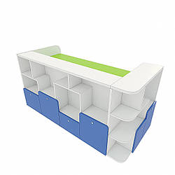 Кафедра з 4-ма ящиками, з тумбою формулярної