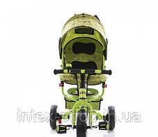 Трехколесный велосипед Profi Trike М 5363-2-1 Eva Foam Зеленый, фото 3
