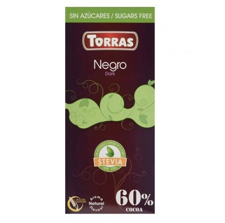 Черный шоколад 60% Torras со стевией (без сахара). 100гр. Torras Stevia Dark