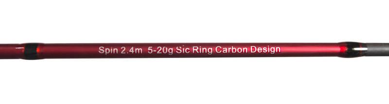 Спиннинг штекерный Feima Spin Red 2.40m 5-20g, фото 3
