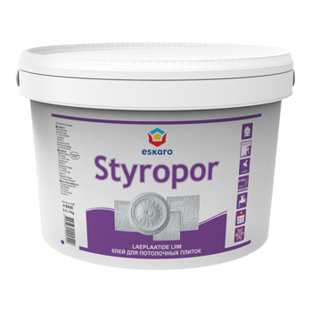 Клей для стиропора (багет, карнизов и потолочных плиток) ESKARO Styropor, 1кг, фото 2