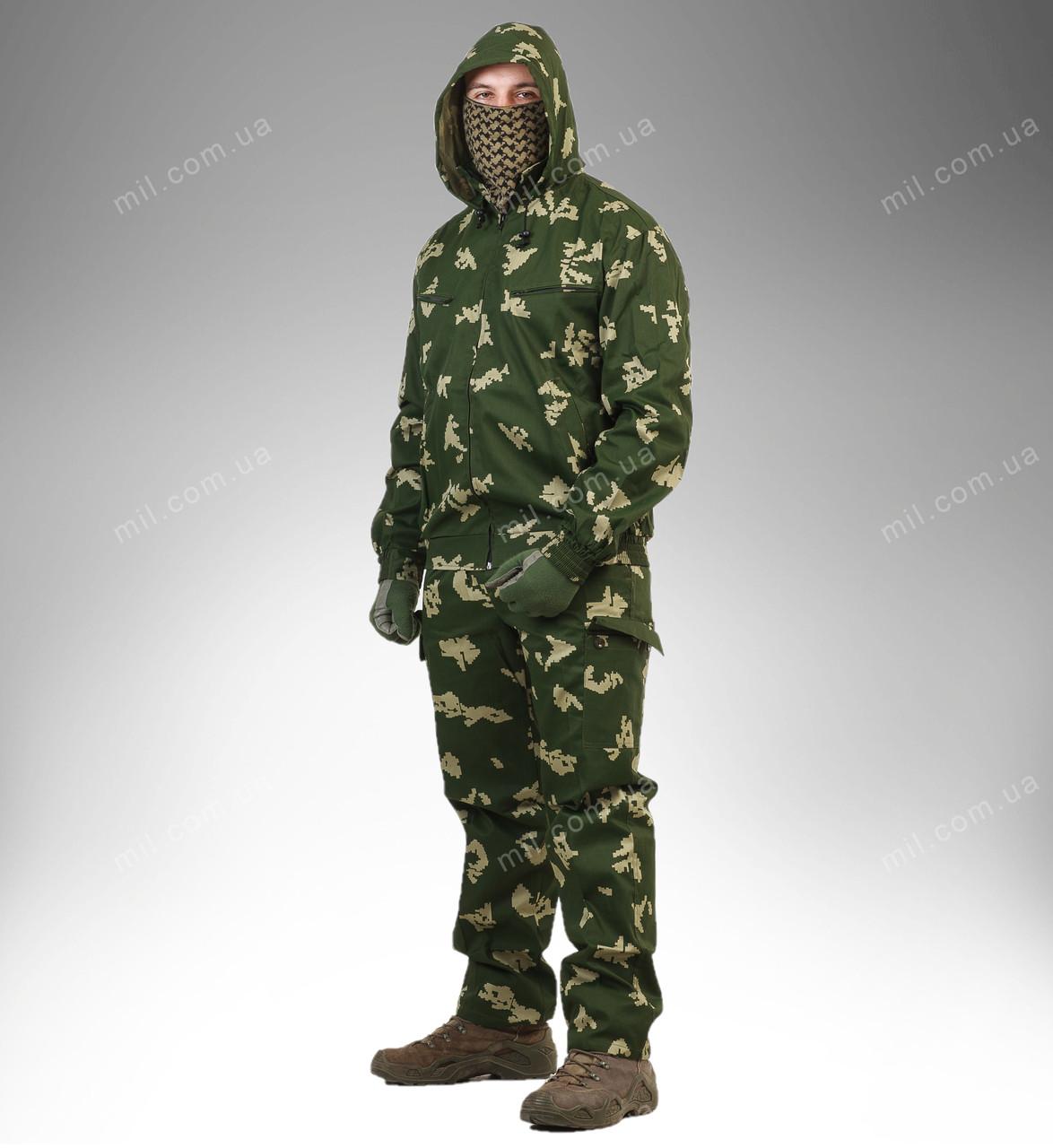 Летний камуфляжный костюм для охоты и рыбалки ''Березка''
