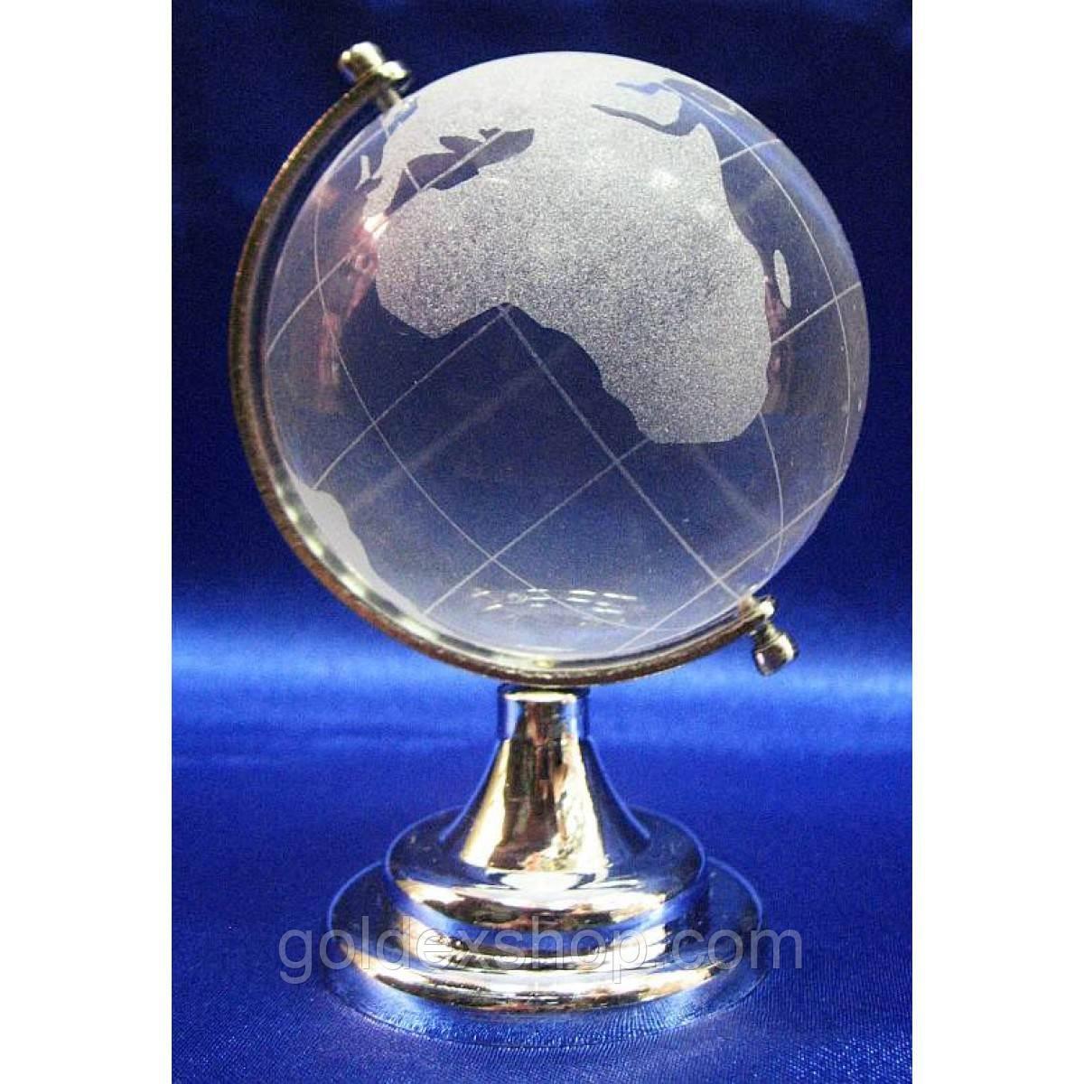 Глобус хрустальный белый