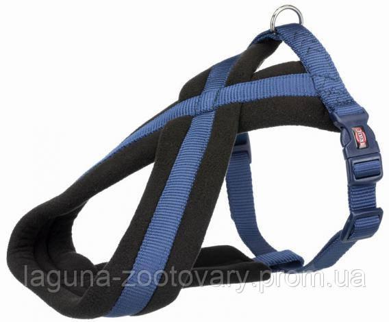 TX-20362 Шлея - восьмерка Премиум для собак 30 - 40см/15мм, синий