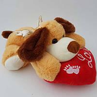 Мягкая игрушка Собачка 06593 25 см, с сердцем, звук-гав-гав