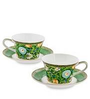 """Чайный набор на 2 персоны """"Цветочный джаз"""" (Jazz Floreale Pavone) из костяного фарфора JK-140, фото 1"""