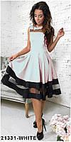 Хит продаж! Элегантное кукольное платье со вставками из сетки  Stefani XS, White