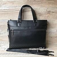 Стильный мужской кожаный портфель Gucci Гуччи