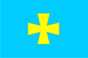 Флаг Полтавской области 0,9х1,35 м. шелк