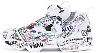 Мужские кроссовки Vetements x Reebok Insta Pump Fury (рибок инста памп х ветементс, белые)
