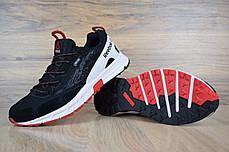 Мужские замшевые кроссовки Reebok one sawcut gtx черные с красным топ реплика, фото 3