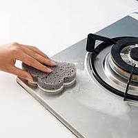 Губка для мытья посуды серая Облако