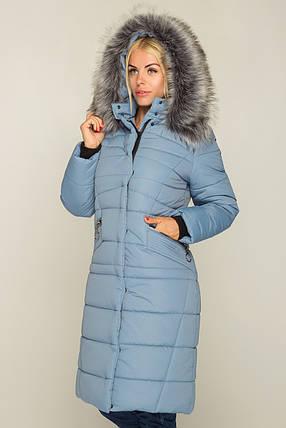 38faf87a3e01e5 Зимнее Теплое длинное пальто пуховик размеры 44 до 58 с капюшоном, фото 2