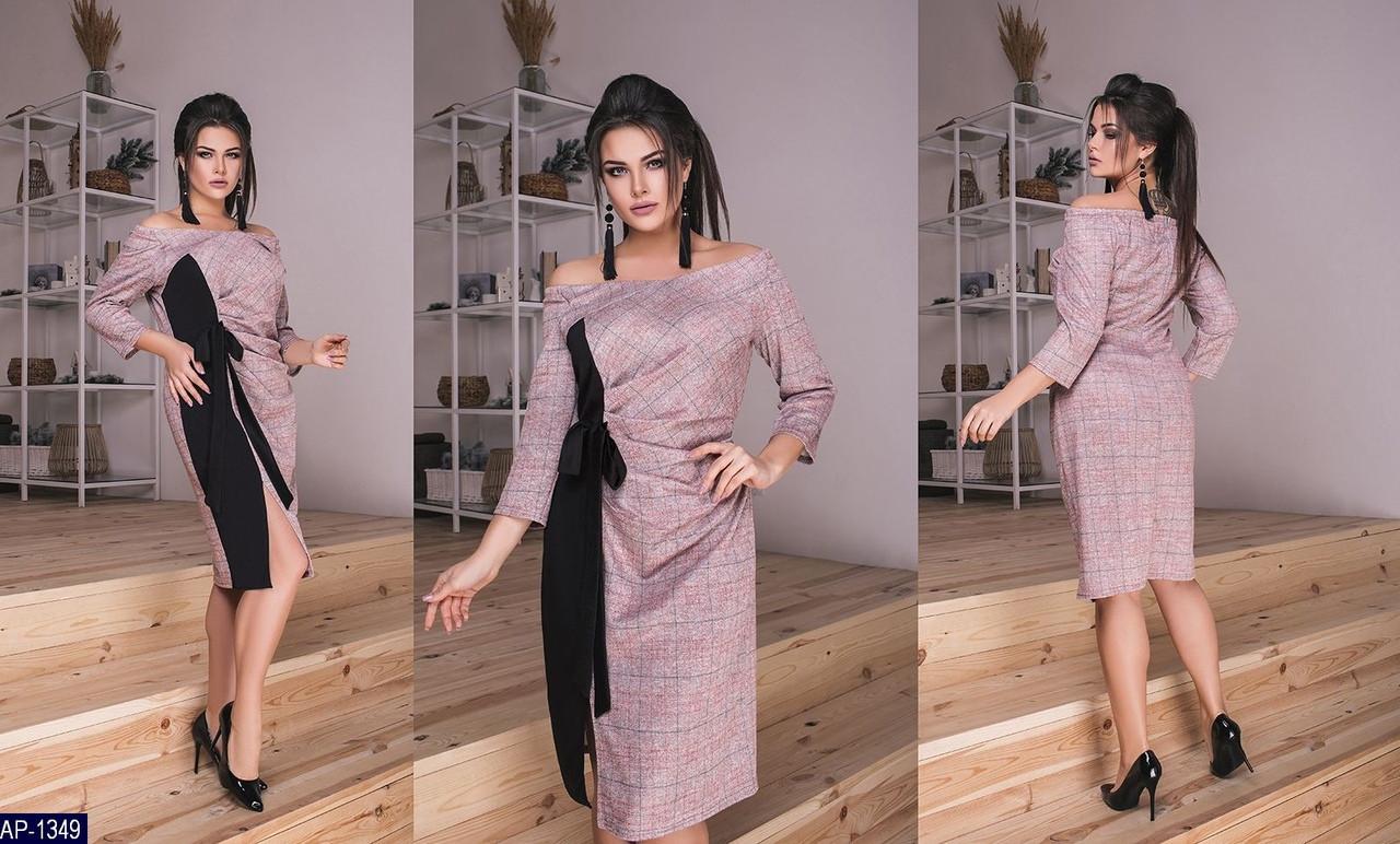 Стильное платье   (размеры 48-58)  0145-50