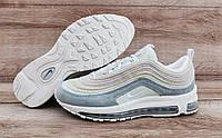 Подростковые, детские кроссовки Nike Air Max 97 Grey/Mint