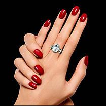 Серебряный перстень-оберег с большим прозрачным камнем, фото 2