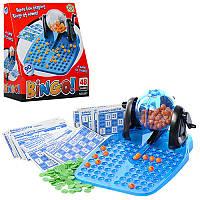 Настольная карточная игра Бинго Bingo лото, 48 карточек, 90 шариков (цифры), игра для всей семьи, 867 (871)