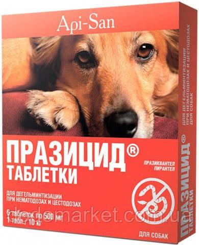 Празицид таблетки от гельминтов для собак 6*500 мг