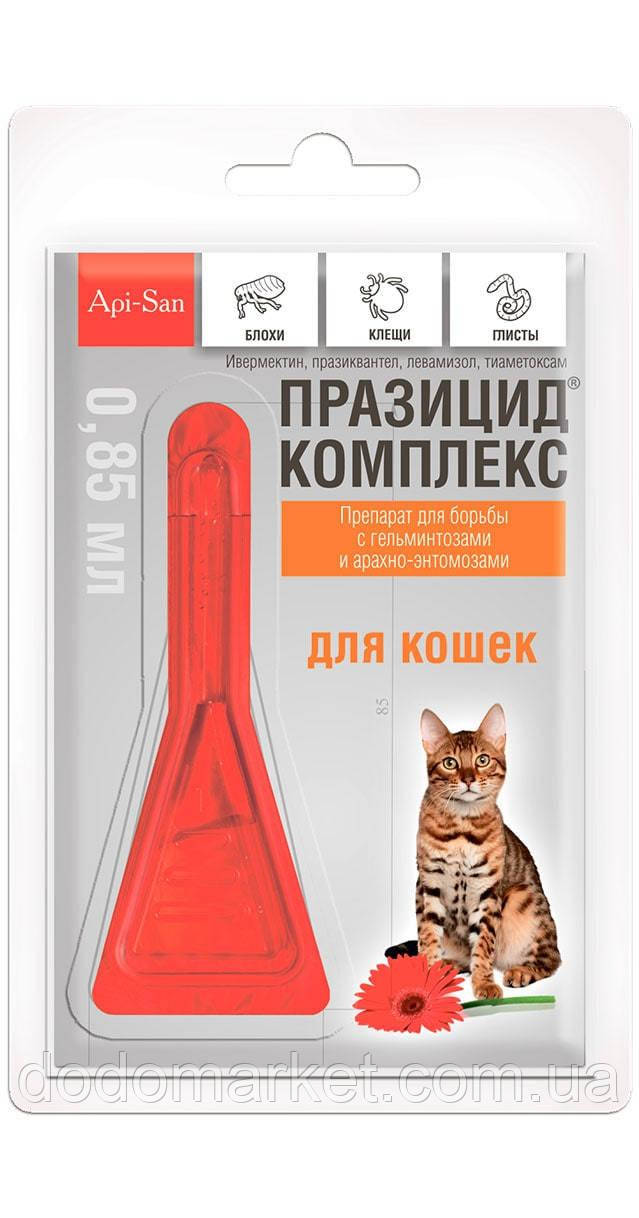 Празицид Комплекс капли на холку для кошек 1 пипетка 0,85 мл