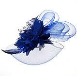 Женская дизайнерская шляпка синяя А-1102, фото 2