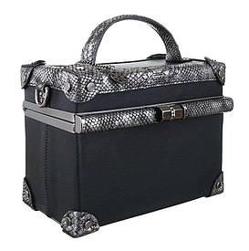 Квадратная сумка коробка с экокожей под рептилию Dudlin (Италия) Черный