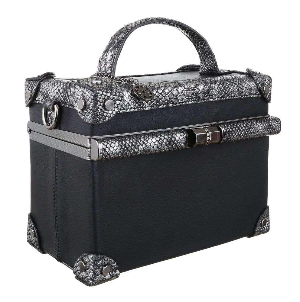 a232539a7d8a Квадратная сумка коробка с экокожей под рептилию Dudlin (Италия) Черный -  Интернет-магазин