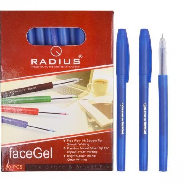 Ручка «Faсe Gel» RADIUS 50 штук, синяя 1 упаковка (50 штук)
