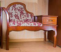 """Элитная банкетка (канапе) """"Фиона"""". Мебель для прихожей из дерева."""