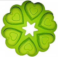 Силиконовая форма для выпечки 6 фигурных сердец